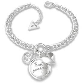 MY FEELINGS Trust Your Heart Charm Bracelet (Silver) (SILVER)