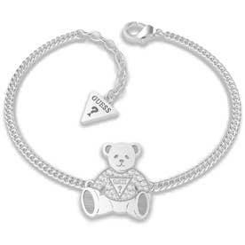 VINTAGE BEAR Bear Charm Chain Bracelet (Silver) (SILVER)
