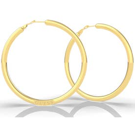 DREAM & LOVE Bold Round Hoops Pierce (Gold/60mm) (GOLD)