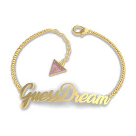 DREAM & LOVE Guessdream Script Bracelet (Gold) (GOLD)