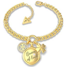 MY FEELINGS Queen Of Luck Charm Bracelet (Gold) (GOLD)