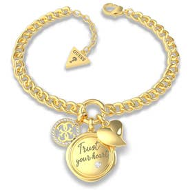 MY FEELINGS Trust Your Heart Charm Bracelet (Gold) (GOLD)