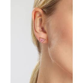 DREAM & LOVE Pink Triangle Logo Studs Pierce (Yellow Gold) (GOLD)