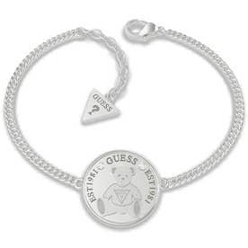 VINTAGE BEAR Bear Coin Chain Bracelet (Silver) (SILVER)
