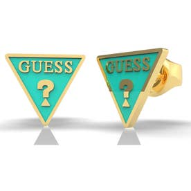 DREAM & LOVE Tur Triangle Logo Studs Pierce (Yellow Gold) (GOLD)