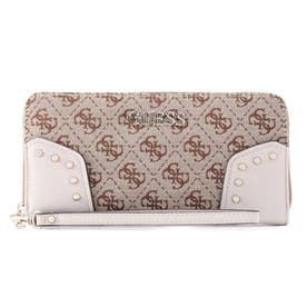 FRANKIE Large Zip Around Wallet (BROWN LOGO)