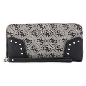 FRANKIE Large Zip Around Wallet (BLACK LOGO)