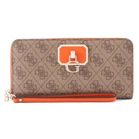 ALISA Large Zip Around Wallet (LATTE / ORANGE)