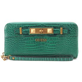 RAFFIE Large Zip Around Wallet (GREEN)