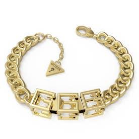 G CUBE Curb & 10 mm Bracelet (YG)