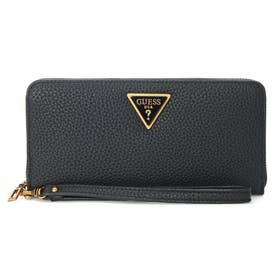 DOWNTOWN CHIC Large Zip Around Wallet (BLACK)