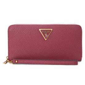 DOWNTOWN CHIC Large Zip Around Wallet (PLUM)