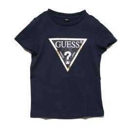 [KIDS] Metallic Gold Triangle Logo Tee (DARK NAVY)