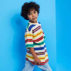 [KIDS] x J BALVIN Horizon Stripe Tee (BALVIN HORIZONTAL STRIPE CREAM-)
