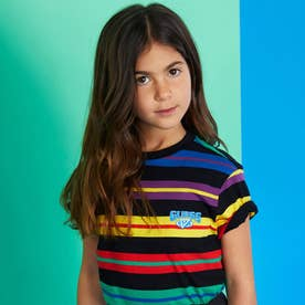 [KIDS] x J BALVIN Horizon Stripe Tee (BALVIN HORIZONTAL STRIPE BLACK)