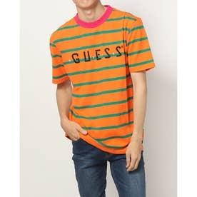 x J BALVIN OVERSIZED STRIPED LOGO TEE (Orange Stripe)