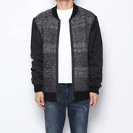 BRUSHED JACQUARD SWEATER (JET BLACK MULTI)
