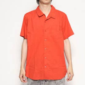 EMBROIDERED SHORT-SLEEVE SHIRT (MINERAL RED MULTI)
