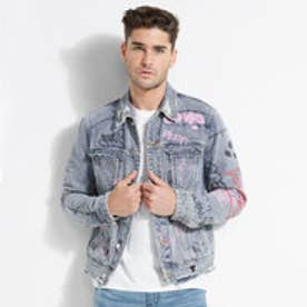 DILLON GRAFFITI DENIM JACKET (VINTAGE STONEWASH W/ DESTROY)