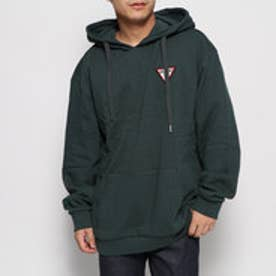 TRIANGLE LOGO FELT PATCH HOODED PARKA (GREEN)