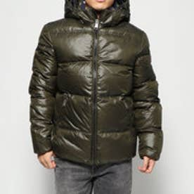 HOODED PUFFA DOWN JACKET (HUNTER GREEN)