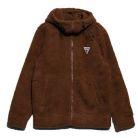 BOA FLEECE HOODED ZIP-UP PARKA (CAMEL)