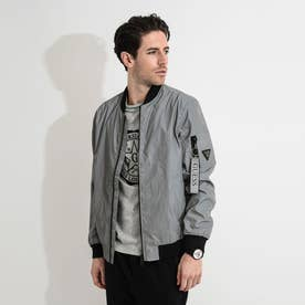 REFLECTIVE CITY BOMBER JACKET (GLACIER GREY A935)