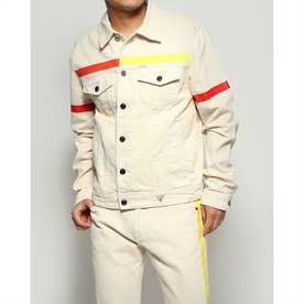 Dillon Color Tape Denim Jacket (BEIGE POP)