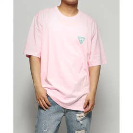 Colorful Triangle Logo Tee (NEW PINK)