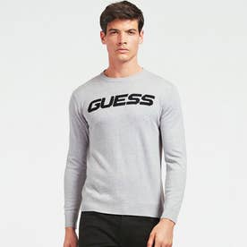 Logo Crew-Neck Sweater (STONE HEATHER GREY)