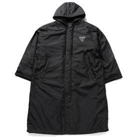 Unisex Small Triangle Logo Long Jacket (BLACK)