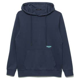 Logo Hooded Pullover Parka (DARK BLUE)