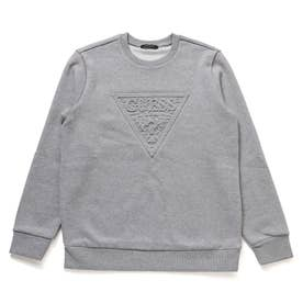 Emboss Triangle Logo Sweat (MELANGE GREY)