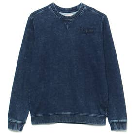 Celestine Crew-Neck Fleece Sweat (BLUE DENIM)