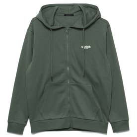 Logo Hooded Zip-Up Parka (GREEN)