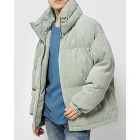 Unisex Corduroy High-Neck Puffer Jacket (MINT)