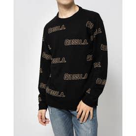 Logo Jacquard Pullover Sweater (BLACK)