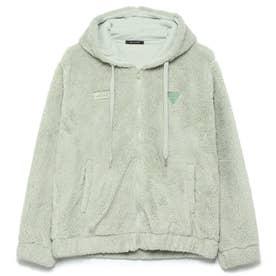 Unisex Boa Hooded Zip-Up Jacket (MINT)