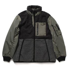 Boa Mix Padding Jacket (KHAKI)