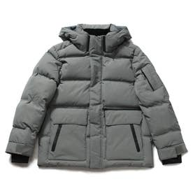 Hooded Short Down Jacket (GREY)