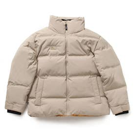 Seamless High-Neck Down Jacket (BEIGE)