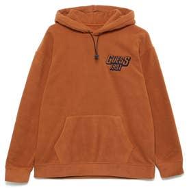Unisex Lettering Logo Fleece Hoody (CAMEL)