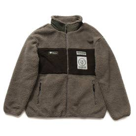 Unisex Boa Zip-Up Jacket (KHAKI)
