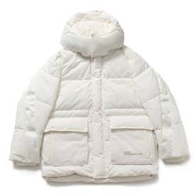 Sleeve Logo Padding Jacket (WHITE)