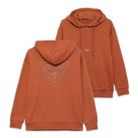 Unisex Triangle Logo Hooded Parka (BROWN)
