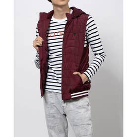 Tilly Hooded Puffer Vest (MARMONT RED A570)