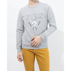LOGO CREW SWEAT (MELANGE GREY)