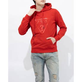 MEN'S HOODIES W/FRONT PRINT (RED)