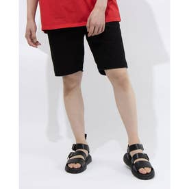 LONNIE FRAYED SHORT (JET BLACK)