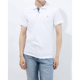 MEN'S S/SLV POLO SHIRT(WHITE)